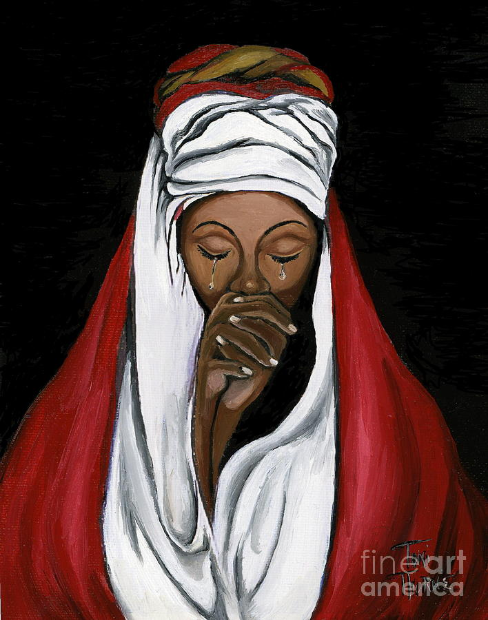 Woman Painting Painting - In Prayer  by Toni  Thorne