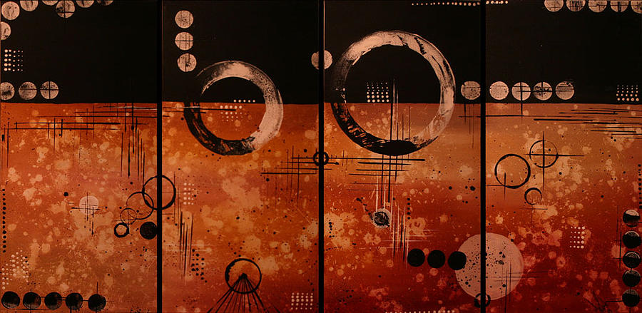 Abstract Painting - In Progress by Moran Danan