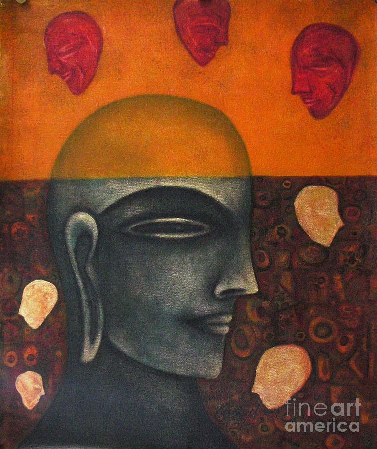 Face Painting - In Search Of Peace-1 by Kushal kanti Chattopadhyay