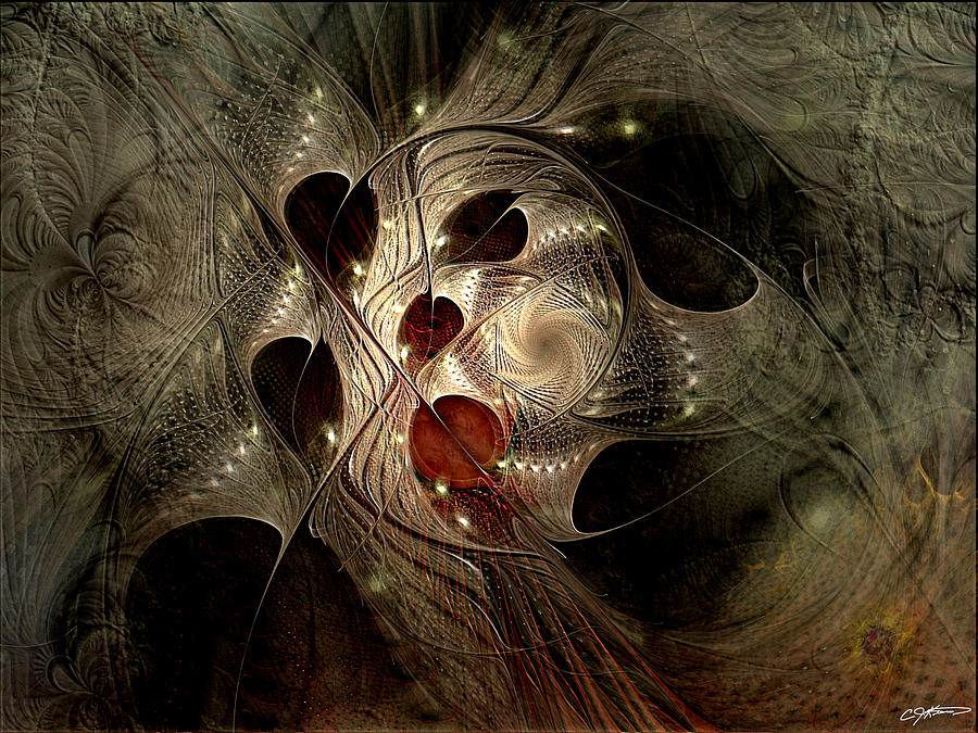 Abstract Digital Art - In Search Of The Lost Chord by Casey Kotas