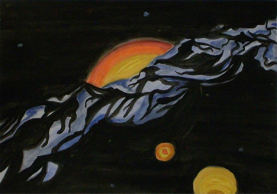 Outer Space Painting - In Space by Carolyn Cable