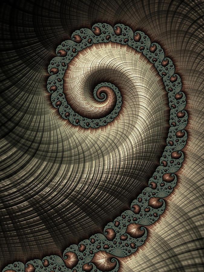 Frax Digital Art - In Spirals by Hakon Soreide
