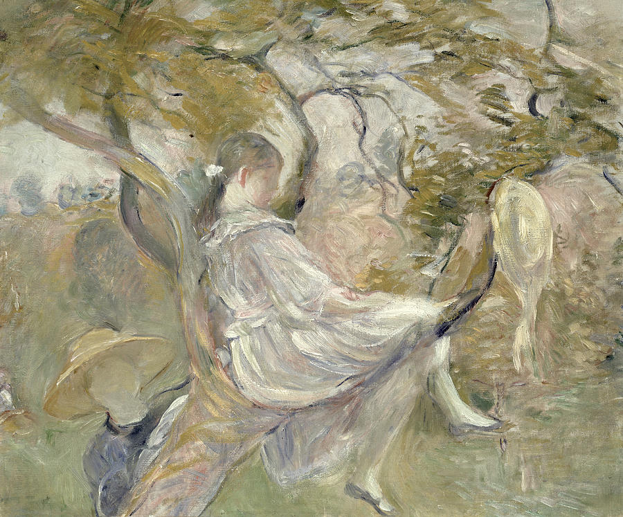 The Painting - In The Apple Tree by Berthe Morisot