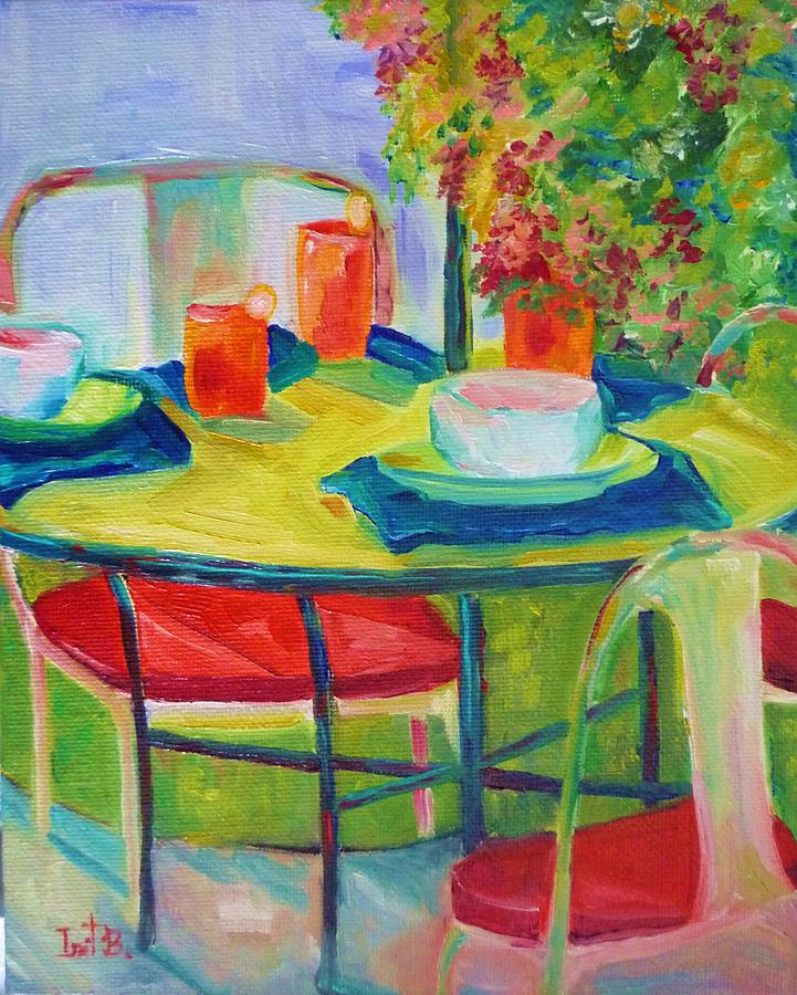 Backyard Painting - In The Backyard by Irit Bourla