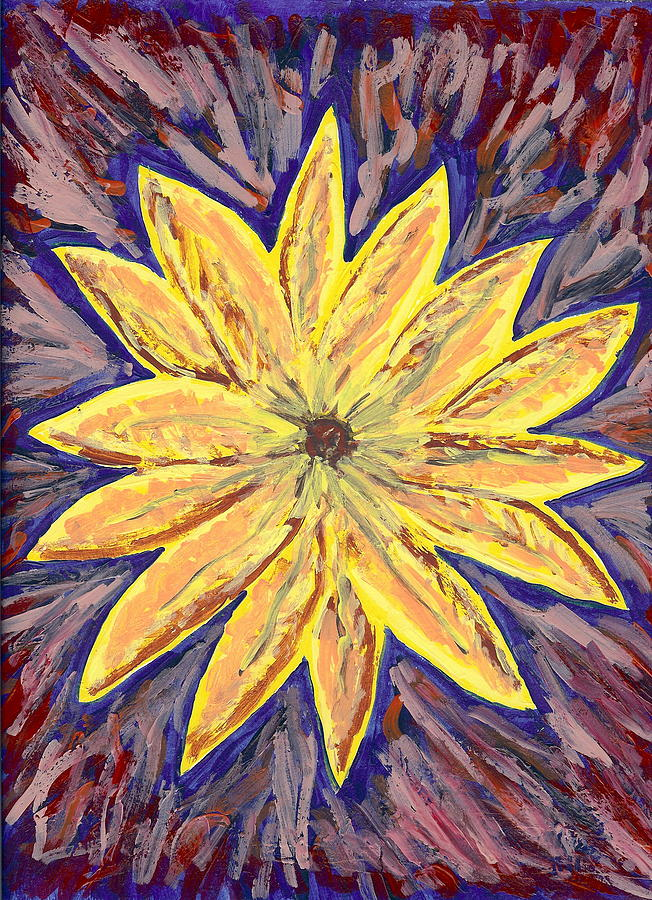Flower Painting - In The Beginning  by Laura Lillo