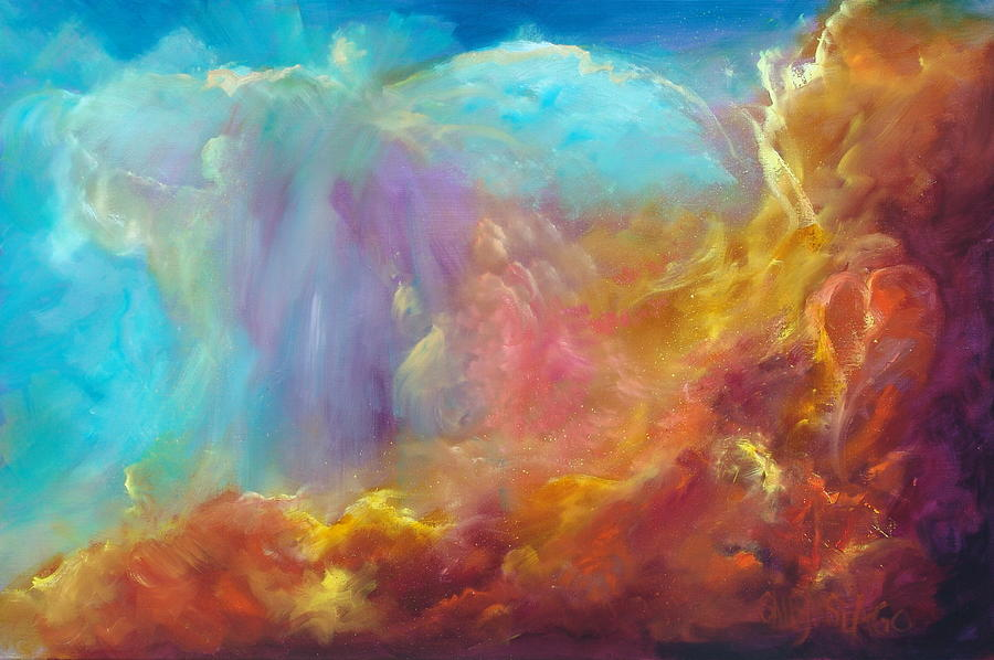 Celestial Painting - In The Beginning by Sally Seago