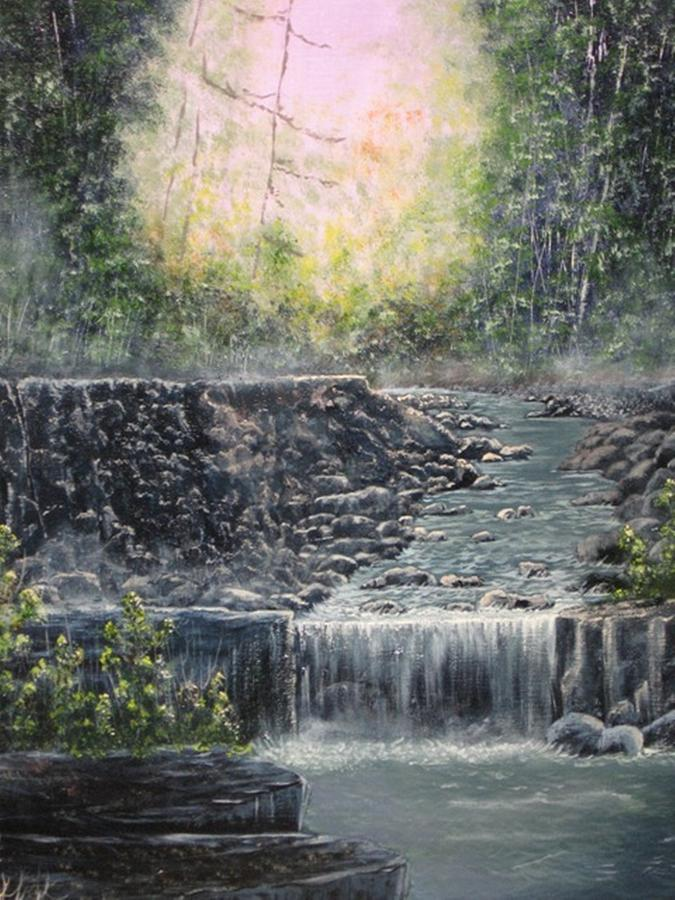 Landscape Painting - In The Beginning by Sheila Banga