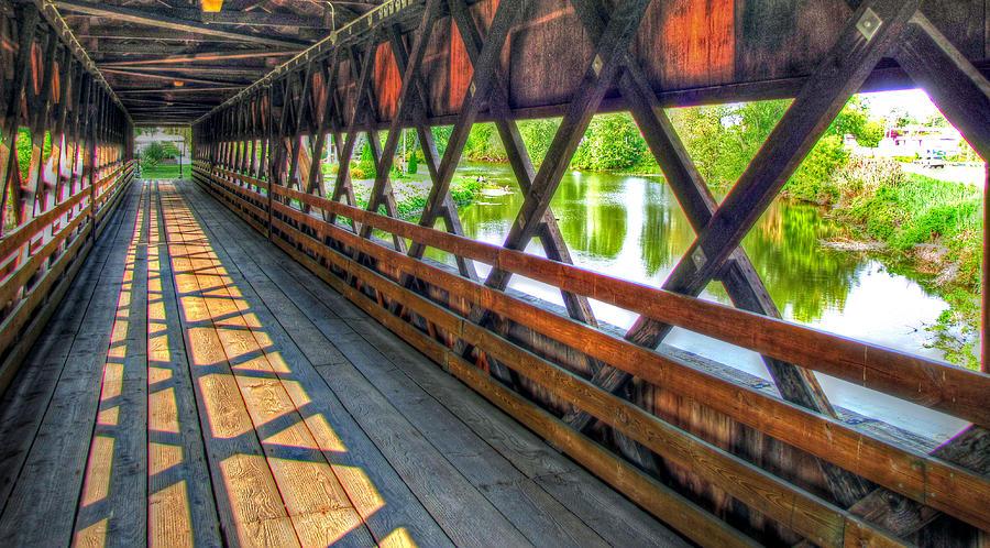 Covered Bridge Pastel - In The Bridge by Jackie Novak