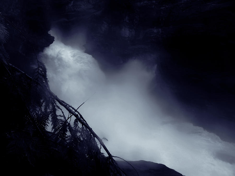Dark Photograph - In The Canyon by Scott Ballingall