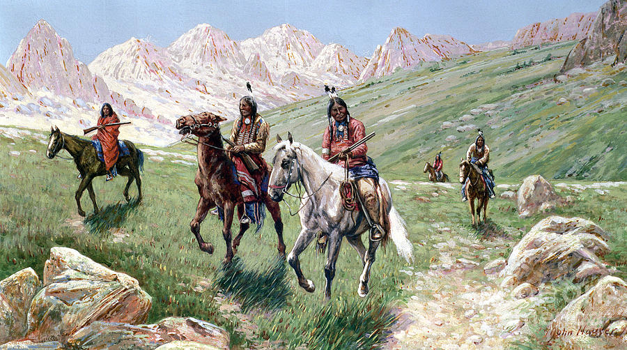 In The Cheyenne Country Painting - In The Cheyenne Country by John Hauser
