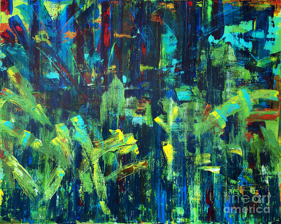 Abstract Painting - In The City Cle by JoAnn DePolo