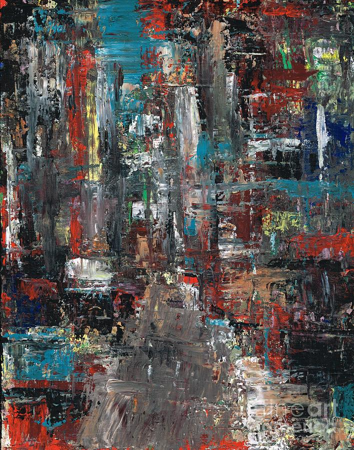 Cities Painting - In The City by Frances Marino