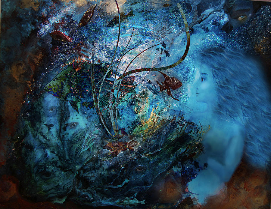 Circle Digital Art - In The Deep Six by Patricia Motley
