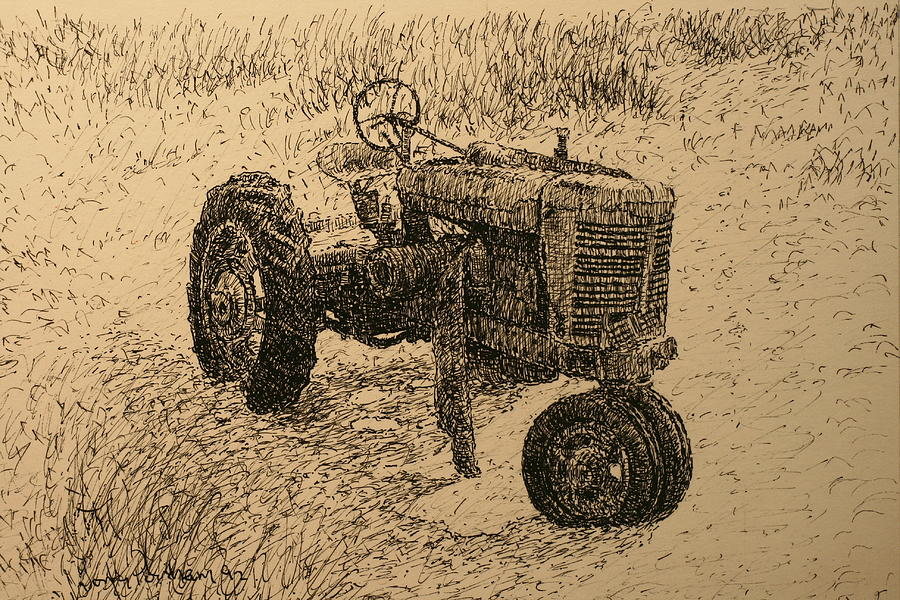 Pen Drawing - In The Dunes by Terry Perham