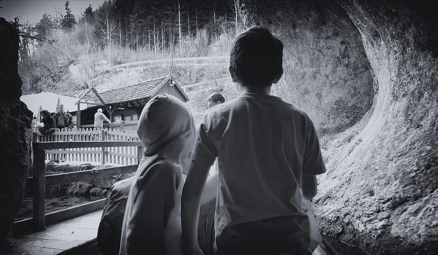 Monochrome Photograph - In The Dutch Mountains by Marcus Hammerschmitt
