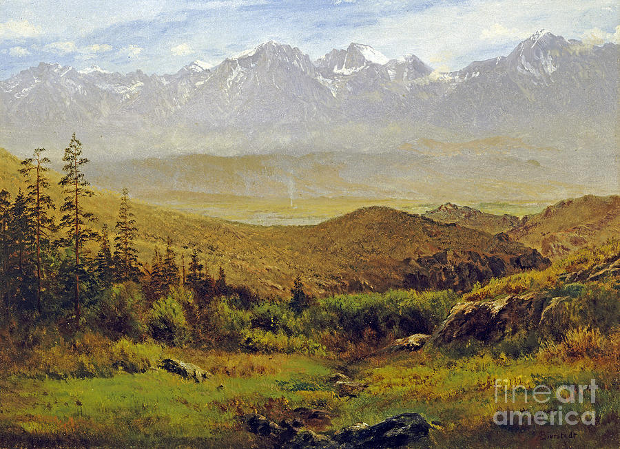 Albert Bierstadt Painting - In The Foothills Of The Rockies by Celestial Images