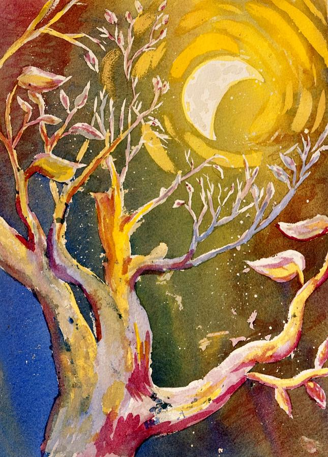 Forest Painting - In The Forest Of The Night by Starr Weems