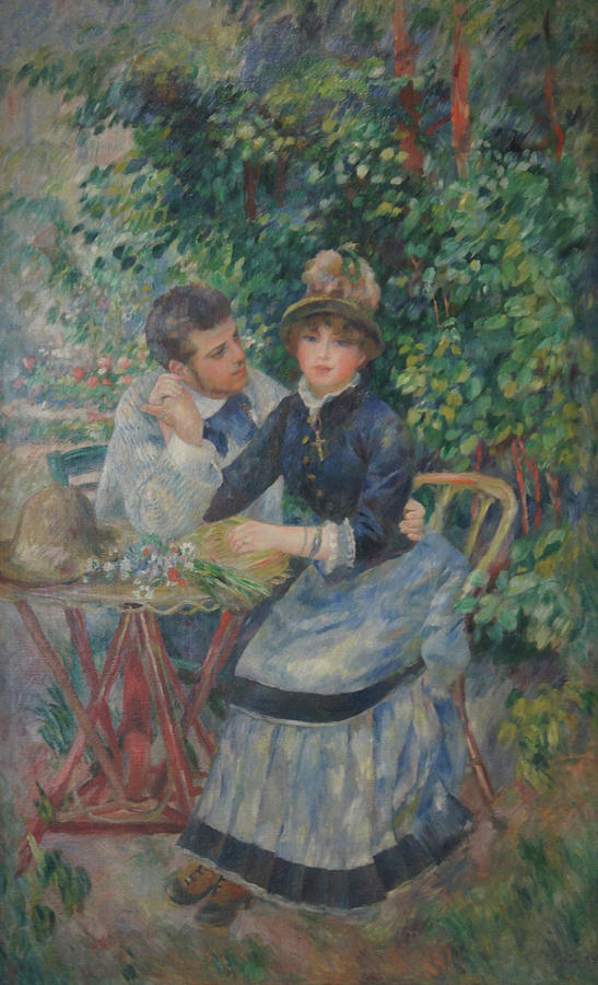 Impressionist Painting - In The Garden  by Pierre Auguste Renoir