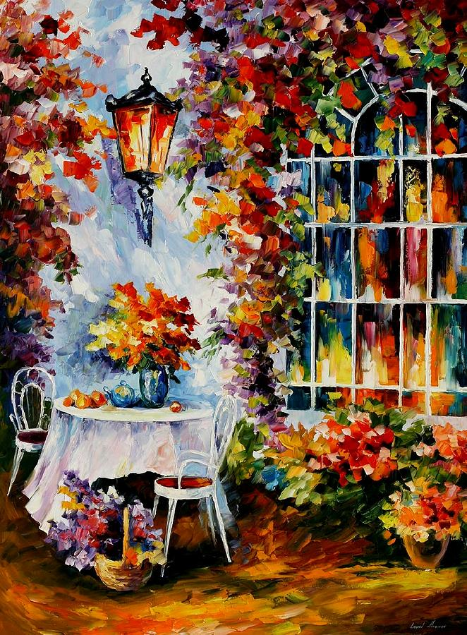 Afremov Painting - In The Garden by Leonid Afremov