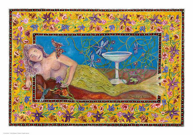 Mermaid Painting - In The Garden by Marlene Robbins