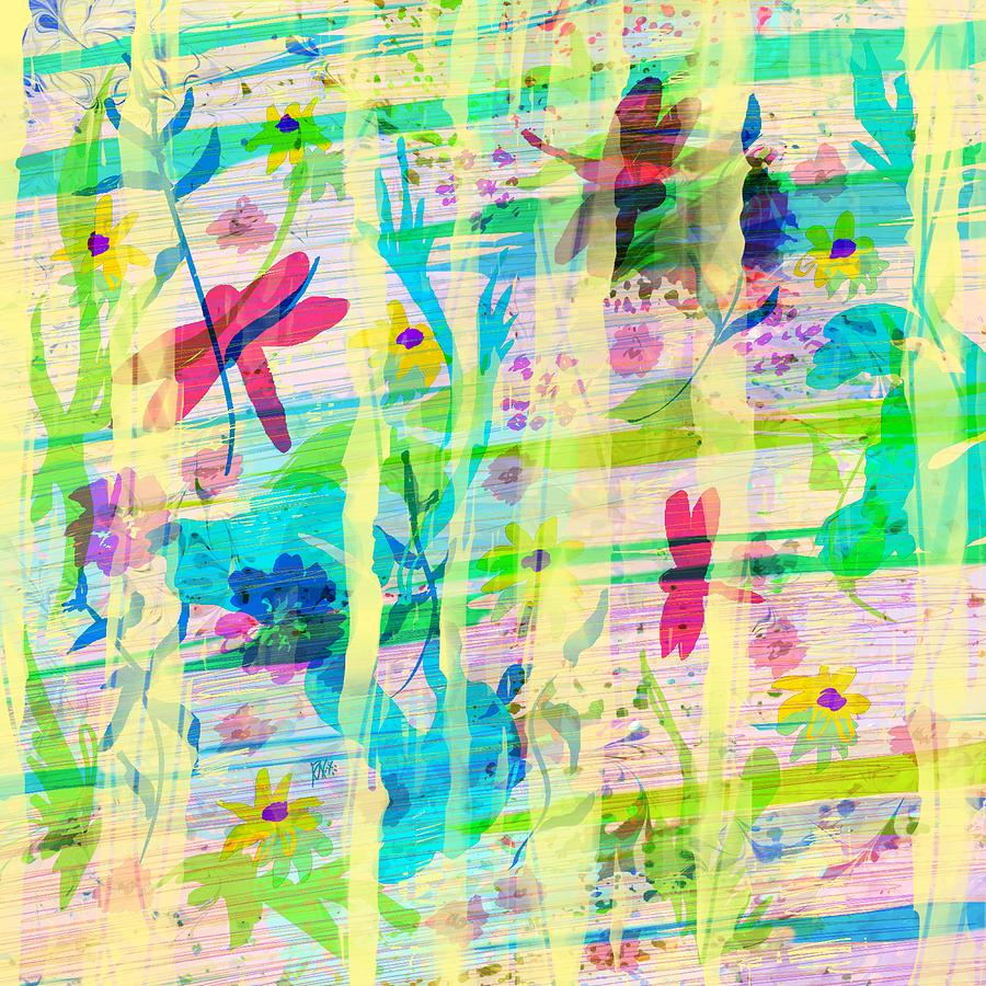 Abstract Digital Art - In the Garden by William Russell Nowicki