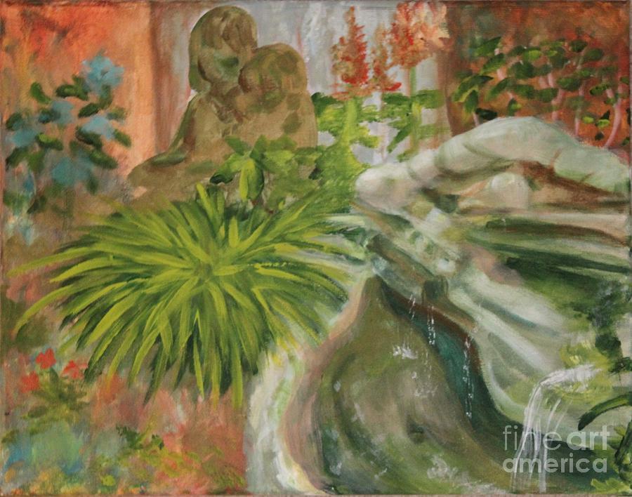 Garden Painting - In The Garden by Terri Thompson