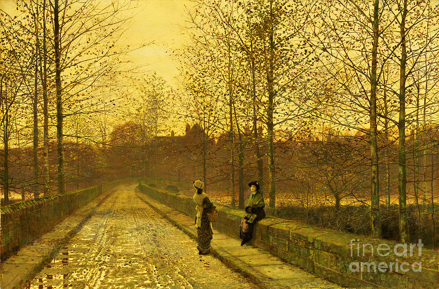 The Painting - In The Golden Gloaming by John Atkinson Grimshaw