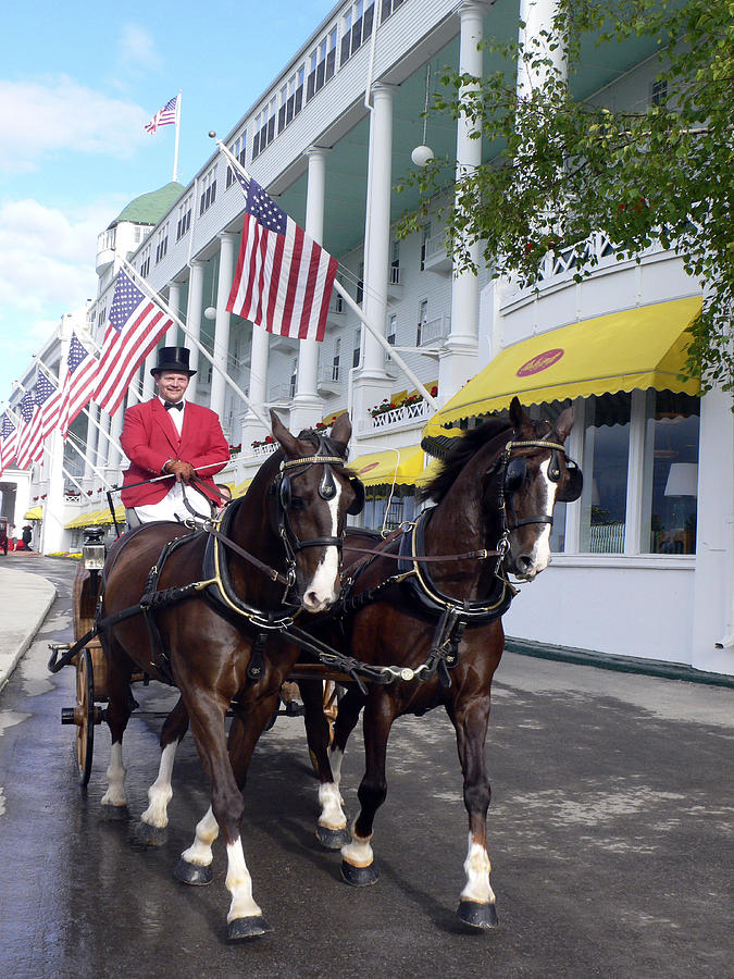 Horses Photograph - In The Grand Mackinac Manner by Charles  Ridgway