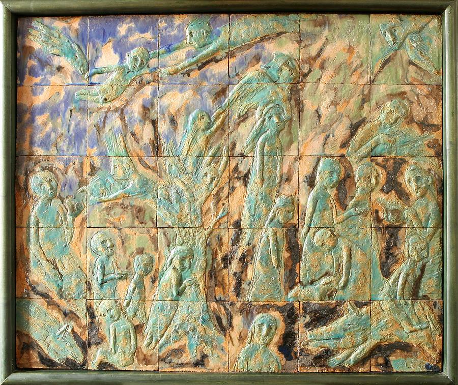 In The Green Mist Relief by Raimonda Jatkeviciute-Kasparaviciene