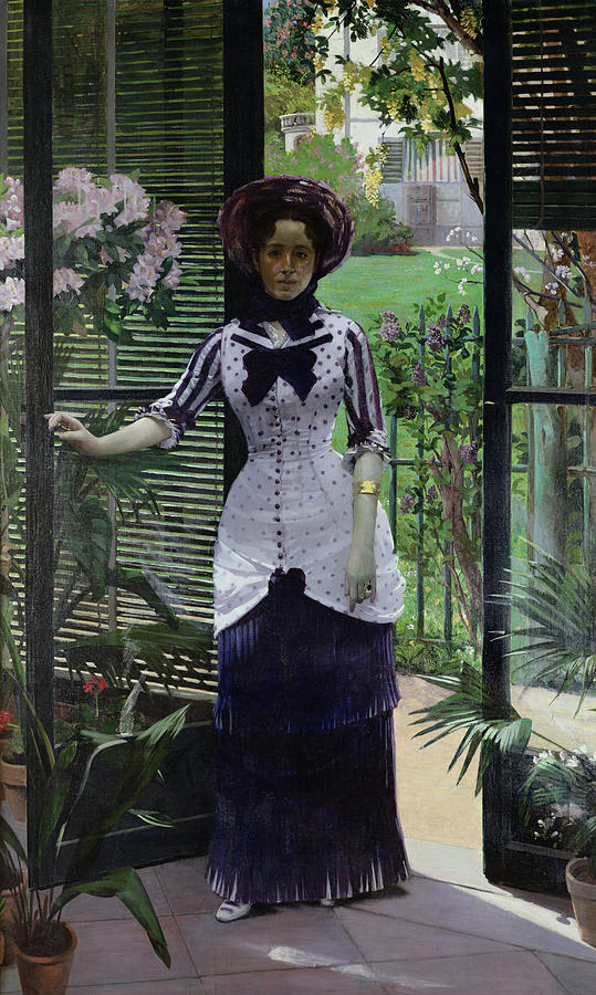 The Painting - In The Greenhouse by Albert Bartholome