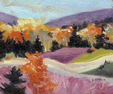Gatineau Hills Painting - In The Hills by Barbara Elmslie