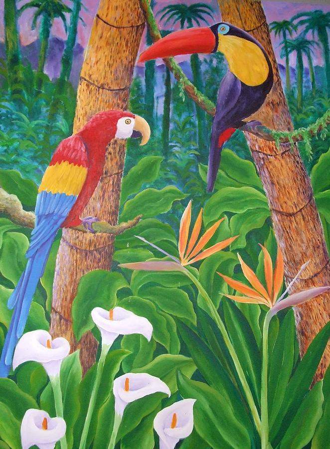 In The Jungle Painting by Jubamo