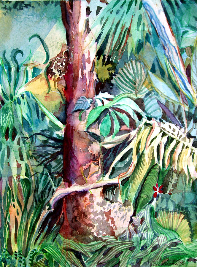 Jungle Painting - In The Jungle by Mindy Newman