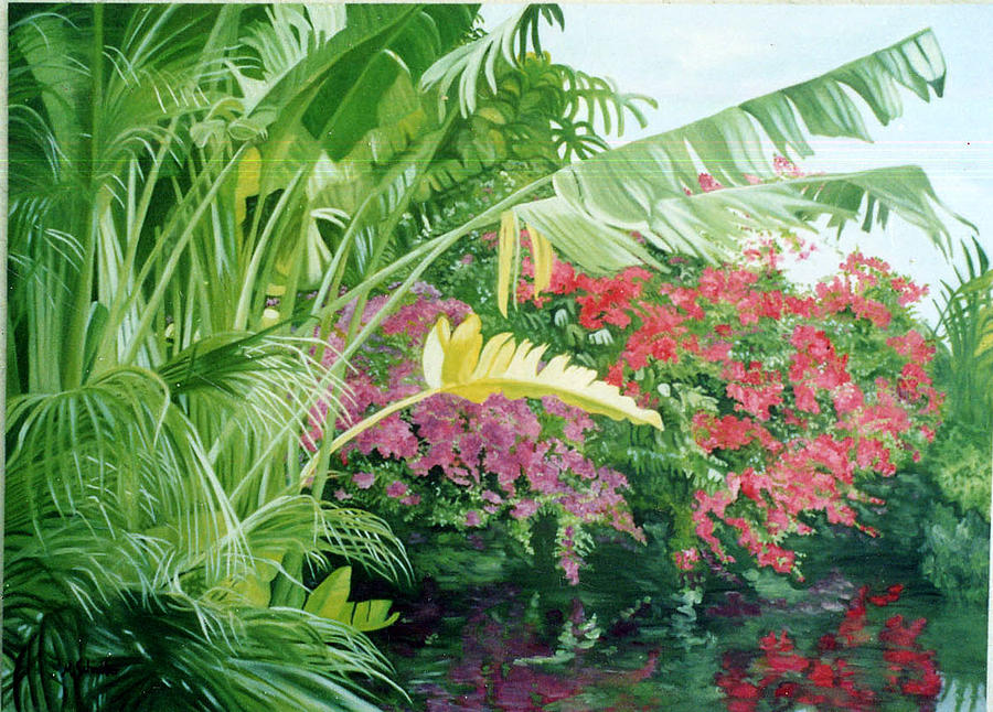 Landscape Painting - In The Keys by Maxine Schreiber