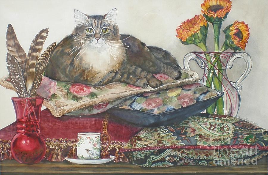 Cats Painting - In The Lap Of Luxury by Jane Loveall