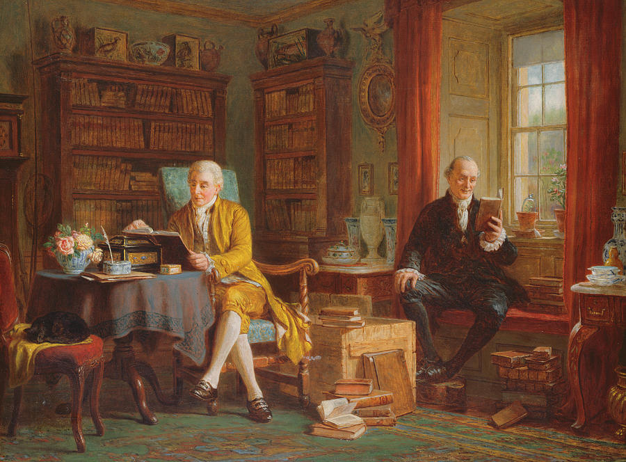 Chapman Painting - In The Library by John Watkins Chapman