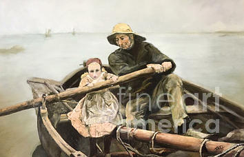 In The Manner Of Emile Renouf Painting By Terry Nagel