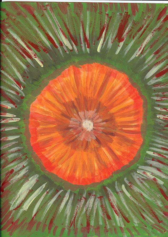 Flower Painting - In The Middle Of It All by Laura Lillo