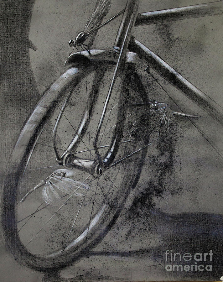 Cycle Painting - In the Mist of Modernization 1 by Raj Maji