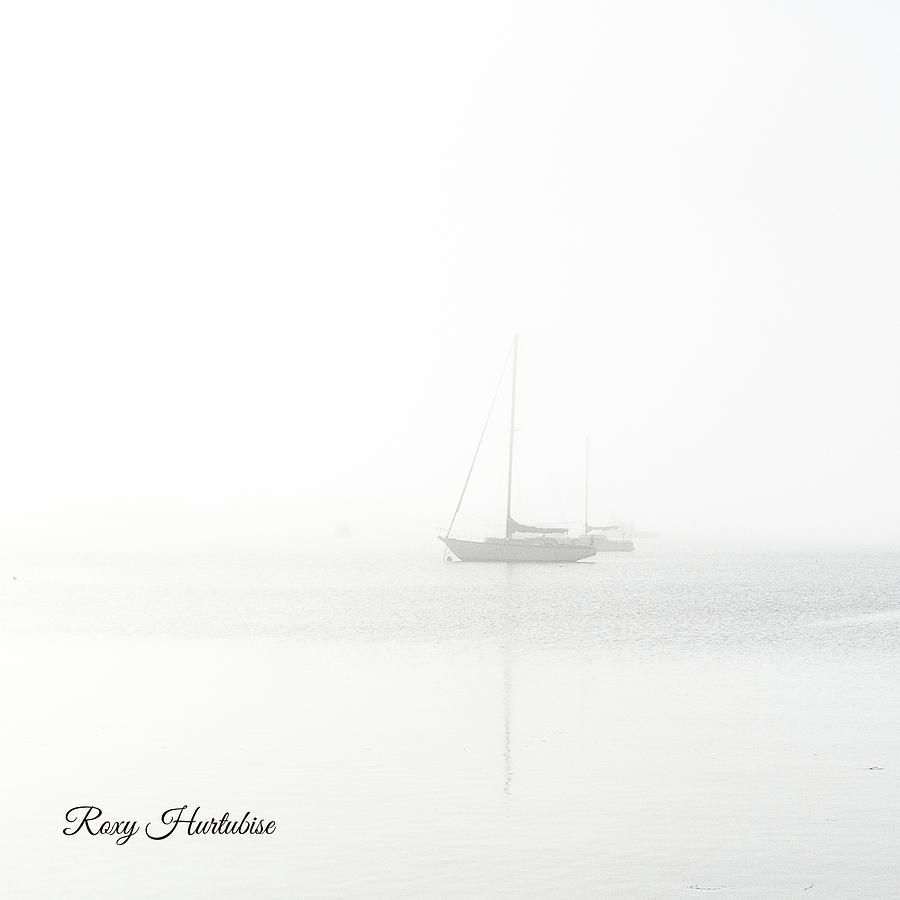 In The Mist Sailboat by Roxy Hurtubise