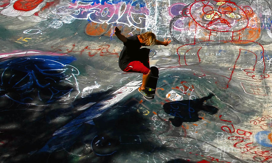 Skateboarding Photograph - In The Moment by David Lee Thompson
