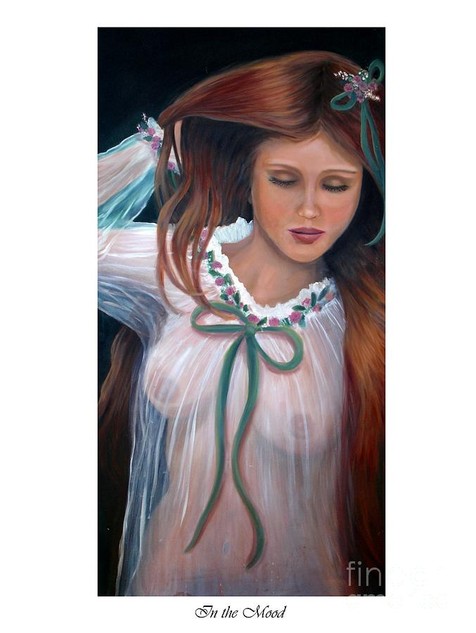 Mexican Beauty Painting - In The Mood by Linda Mungerson