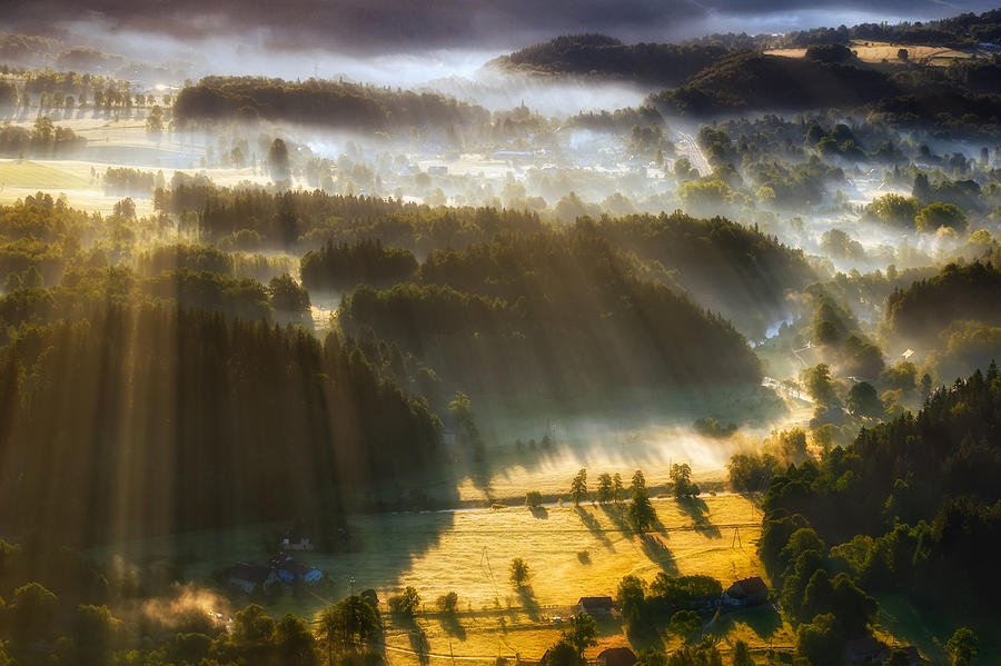 Landscape Photograph - In The Morning Mists by Piotr Krol (bax)