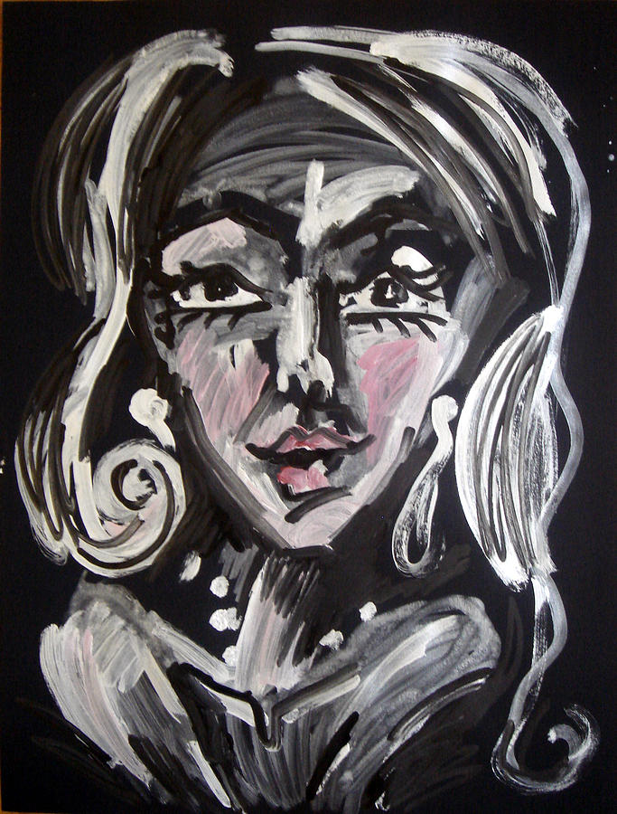 Woman Painting - In the night by Jenni Walford