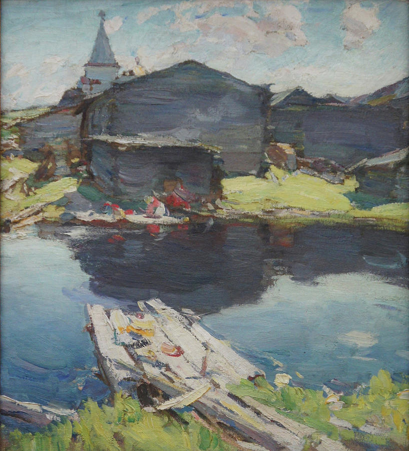 Russian Impressionism Painting - In The North by Abram Arkhipov