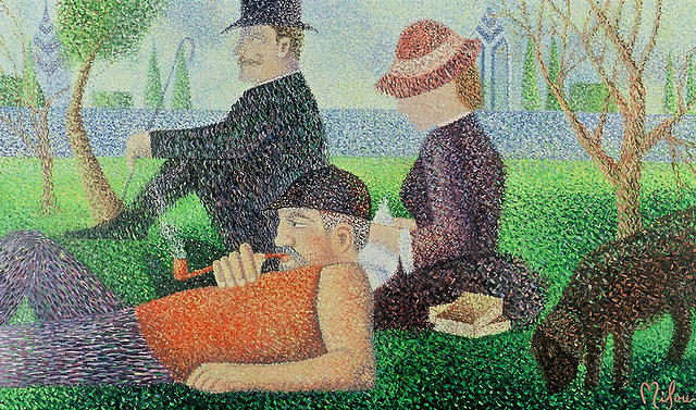 In The Park Painting by Perry Milou