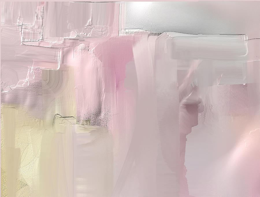 Abstract Mixed Media - In The Pink by Davina Nicholas