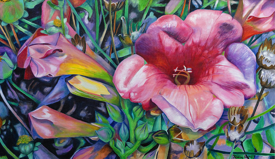 Flowers Painting - In The Pink by Jeremy Holton