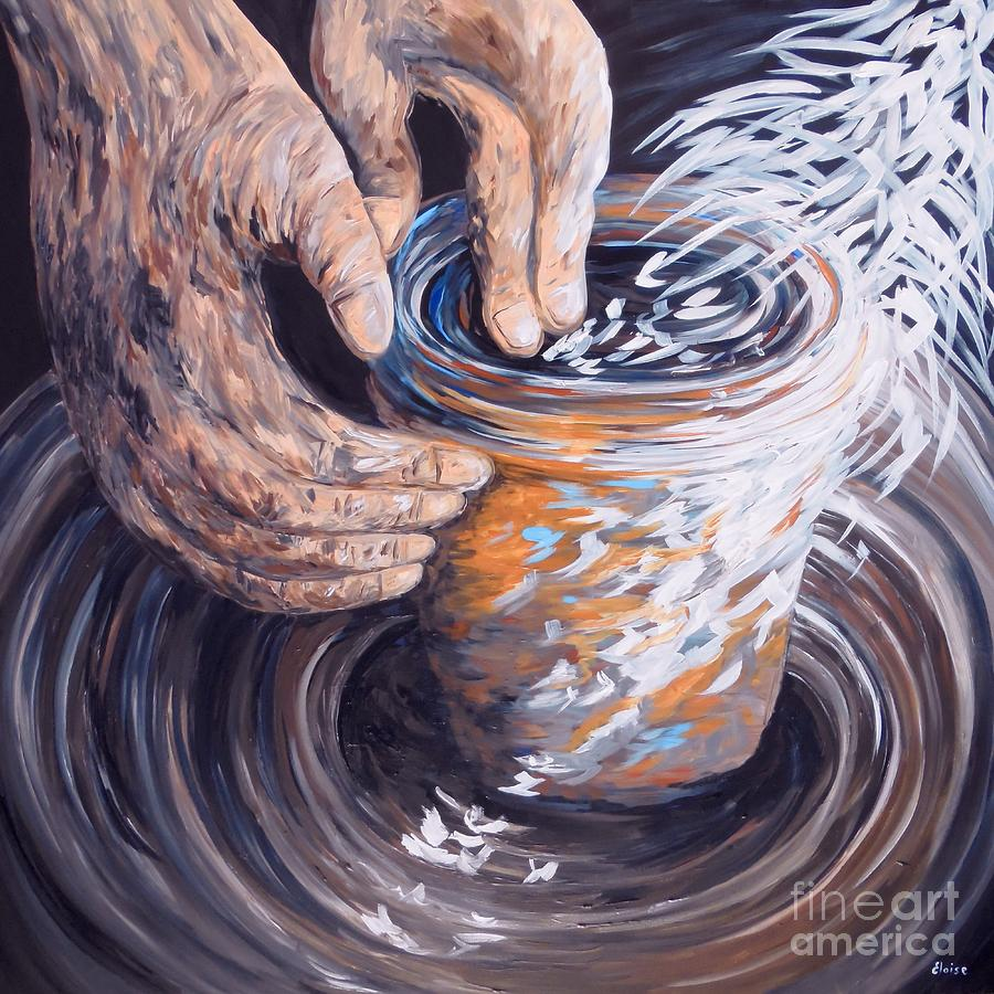 Christian Painting - In The Potters Hands by Eloise Schneider Mote