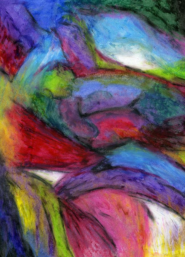Oil Pastels Pastel - In The Process Of Change by Cassandra Donnelly